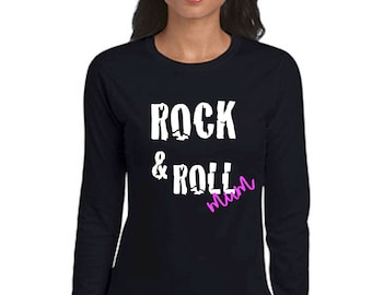 Round neck women t-shirt ROCK & ROLL MUM