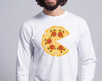 Round neck men long sleeve t-shirt INCOMPLETE PIZZA