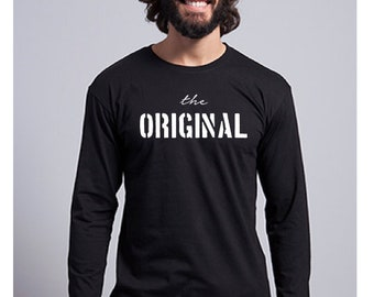 Round neck men long sleeve t-shirt THE ORIGINAL
