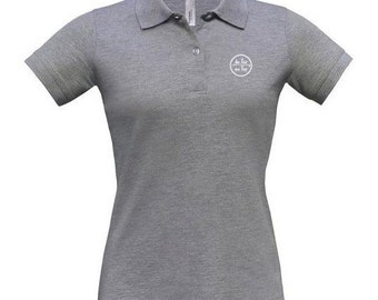 Pique polo t-shirt for women De Tee En Tee logo in different colors.