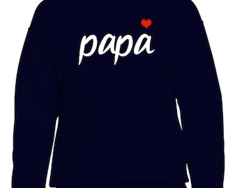 Men sweater PAPA HEART