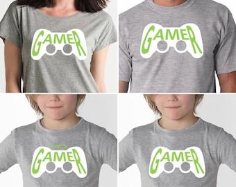 Women, Men, Children t-shirt GAMER or MINI GAMER