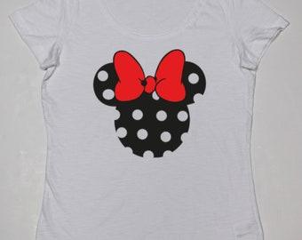 Girl t-shirt or body MINNIE Animal Print o rojo