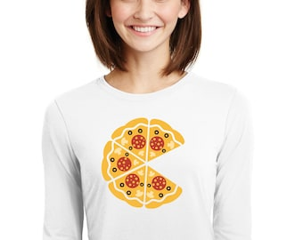 Round neck women t-shirt INCOMPLETE PIZZA
