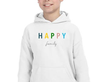 Boy Girl hoodie HAPPY FAMILY