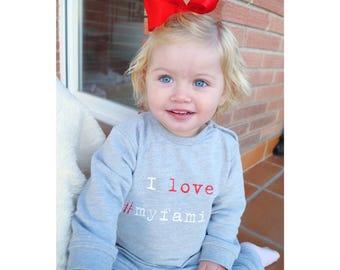 Boy Girl baby sweater I LOVE #MYFAMILY