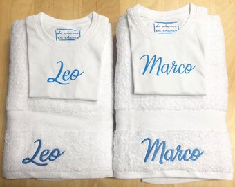 T-shirt or body and towel pack, CUSTOMIZED