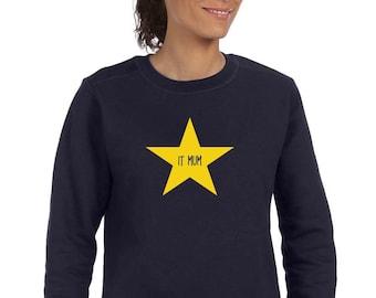 Round neck women sweater IT MUM in a STAR