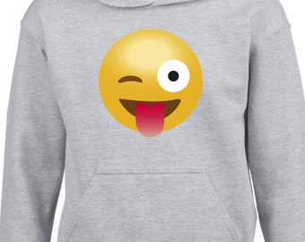 Hoodies for boys and girls with the selected emoji