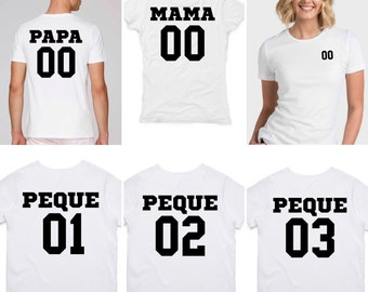 Round neck women t-shirt MAMA NUMBER at the BACK