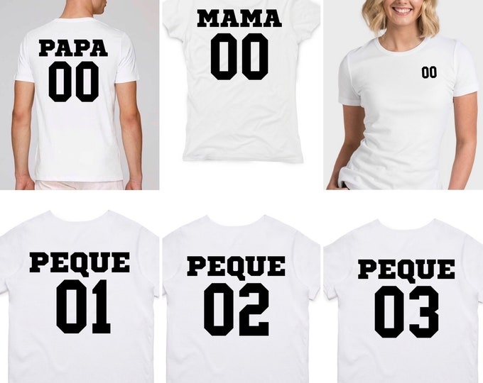 Featured listing image: Round neck women t-shirt MAMA NUMBER at the BACK
