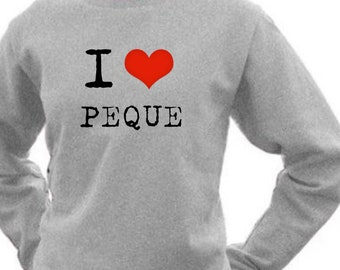 Round neck women sweater I LOVE PEQUE