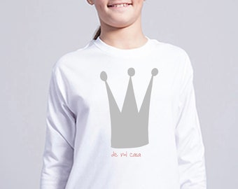 Boy/girl/baby t-shirt or body LONG CROWN