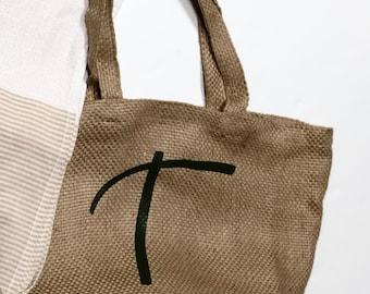 Yute shopping bag.