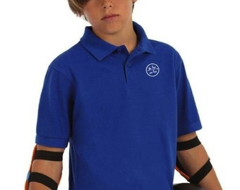 Pique Polo t-shirt for kids (girl and boy, unisex) De Tee En Tee logo in different colors.