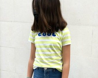 For all the family striped lime tee COOL in various colors