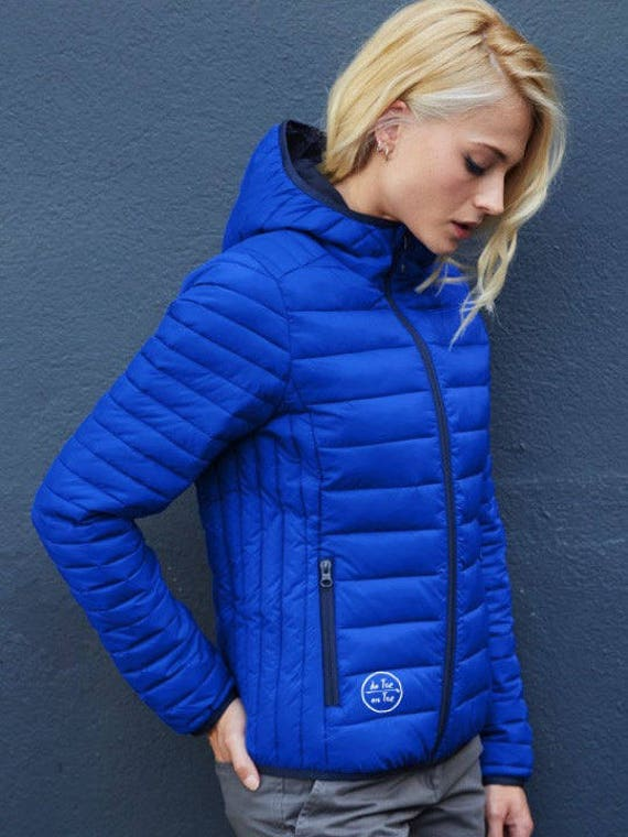 Ladies' hooded lightweight down jacket