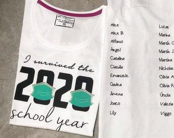 TEACHERS: Women or men tee I SURVIVED the 2020 SCHOOL year
