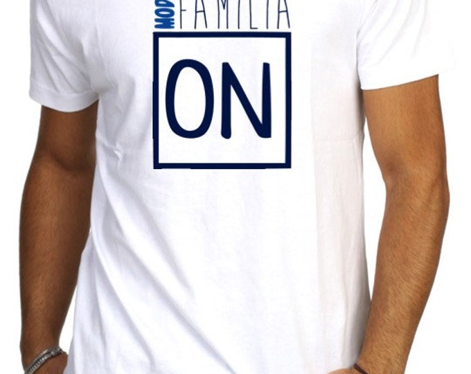 Round neck men short sleeve t-shirt MODO FAMILIA ON