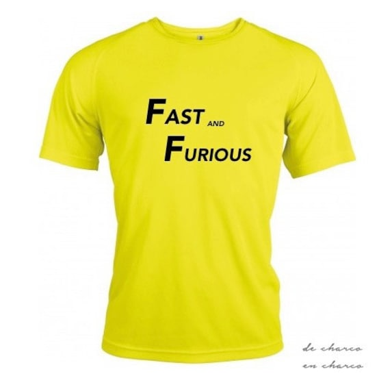 Running round neck men t-shirt FAST AND FURIOUS