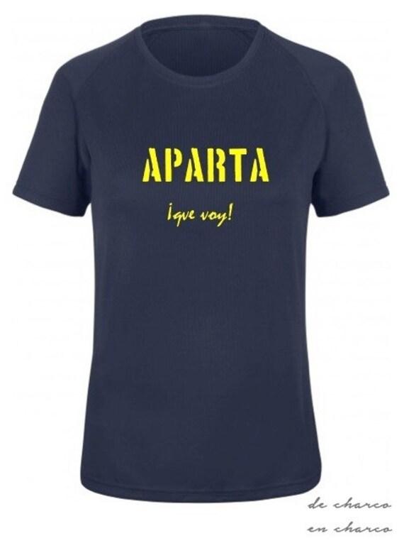 Running round neck women t-shirt APARTA QUE VOY