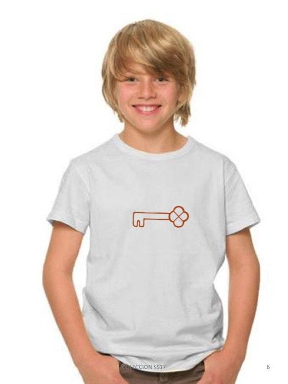 Boy t-shirt or body KEY in copper