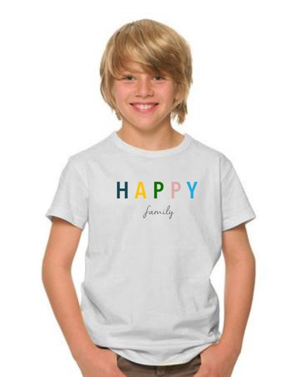 Boy t-shirt or body HAPPY FAMILY