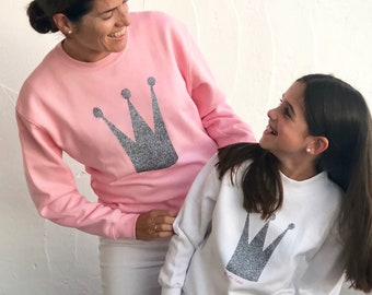 Long sleeve grey sweater CROWN ROYAL FAMILY
