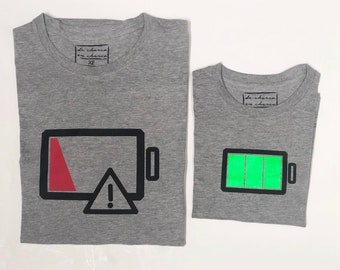 T-shirt for the show family FULL or EMPTY BATTERY