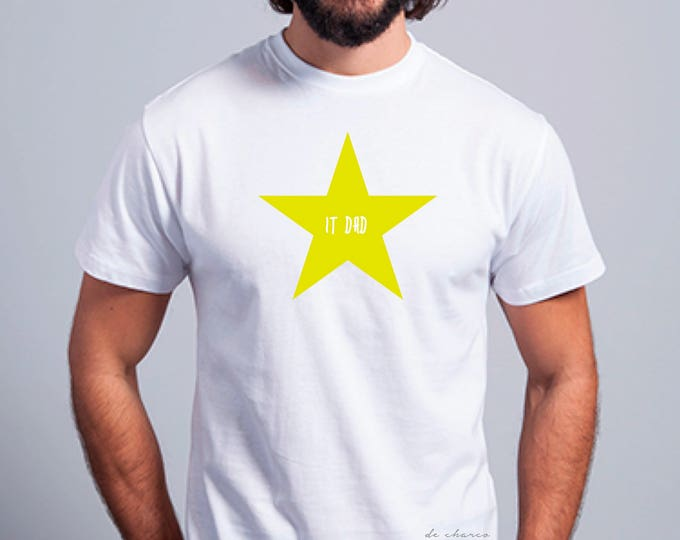 Round neck men short sleeve t-shirt STAR IT DAD