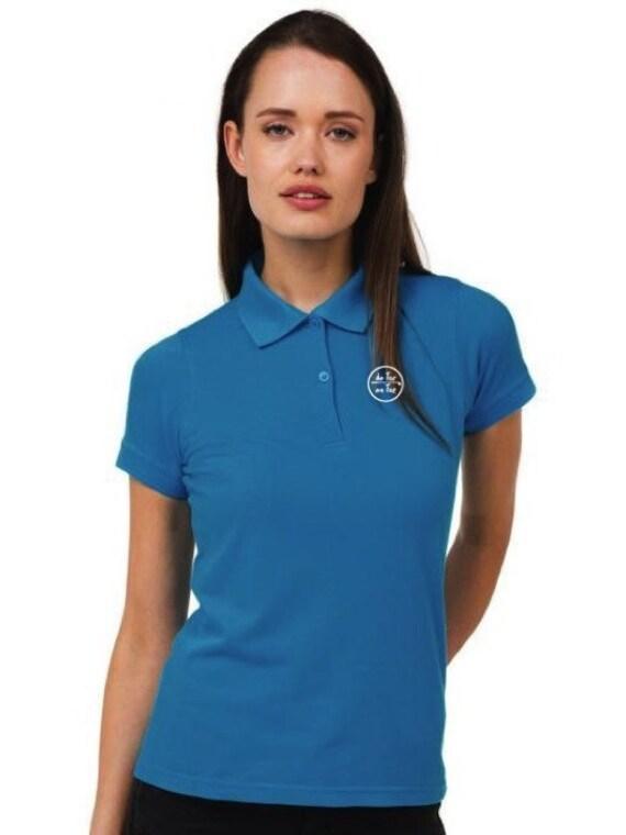 Pique polo t-shirt for women De Tee En Tee logo in different colors.