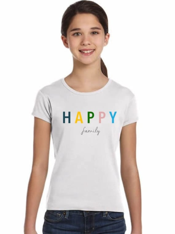 Girl t-shirt or body HAPPY FAMILY