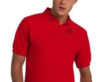 Pique polo t-shirt for men De Tee En Tee logo in different colors.