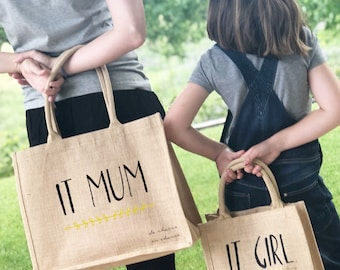 Jute bag different sizes breast-daughter customizable