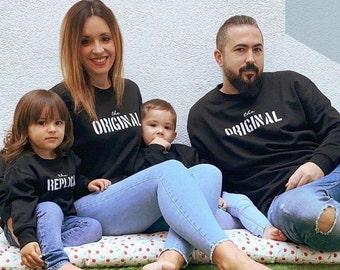 Long sleeve grey sweater ORIGINAL - REPLICA (adult + child/baby)
