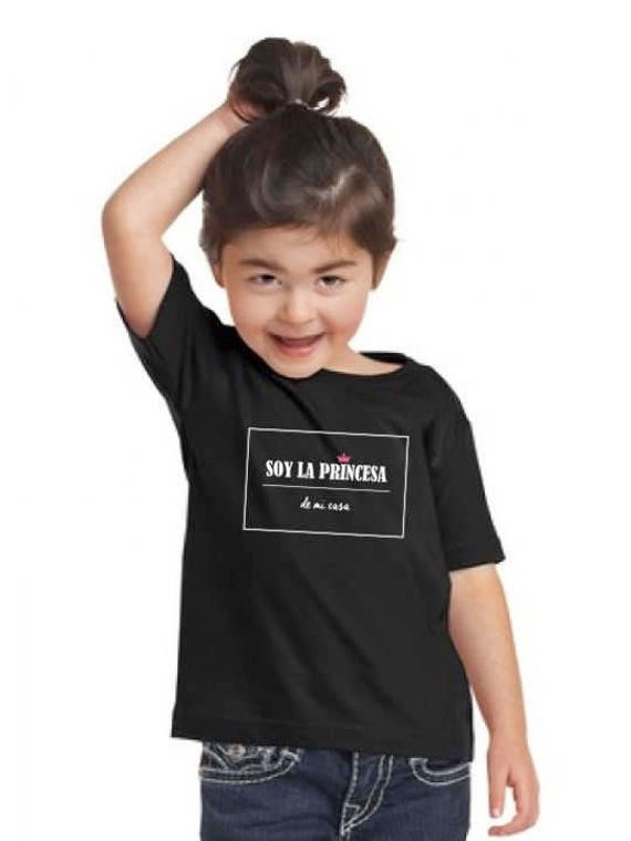 Girl black t-shirt or body SOY LA Princesa de mi casa