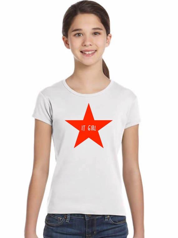 Girl t-shirt or body STAR IT GIRL