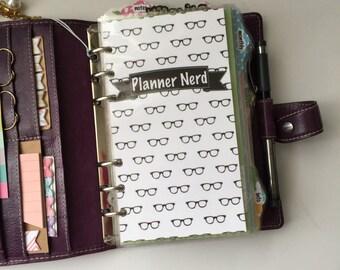 Planner Nerd Eye Glasses Personal Planner Dashboard