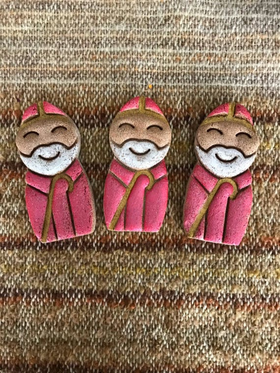 Handmade Traditional German Saint Nicholas Sankt Nikolaus Cinnamon Salt Dough Christmas Weihnachten Ornament