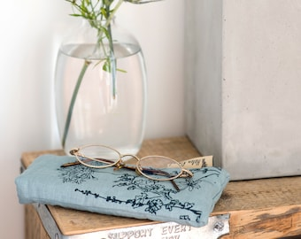 Linen Glasses Case, Spectacle Case from The Garden Collection