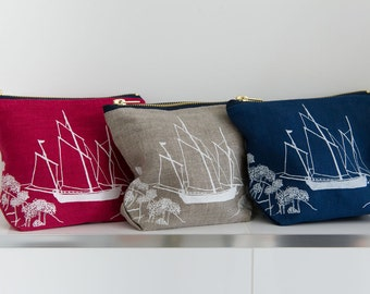Linen Make Up Bag from The Coastal Collection