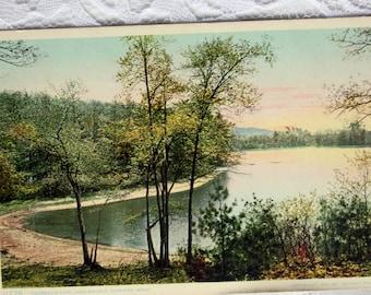 Vintage 1907 Phostint Postcard by Detroit Publishing Com, 11778 Lake Walden, Concord Massachusetts Postcard,