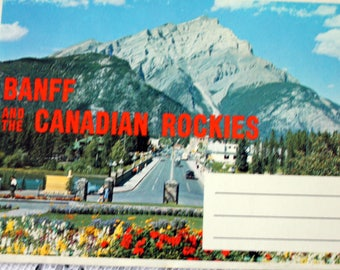 Banff and the Canadian Rockies Souvenir Folder, Vintage Banff Souvenir Folder, Canadian Rockies