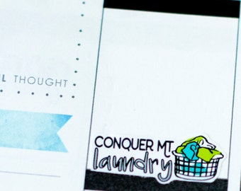 Conquer Mount Laundry! | Laundry Day Planner Stickers (#034)