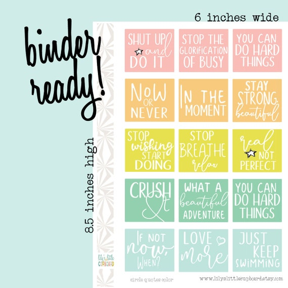 month view quote stickers monthly layout planner stickers etsy