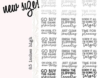 Weekly Task Stickers in NEUTRAL Colors | To Do List Phrase Planner Stickers (#024)