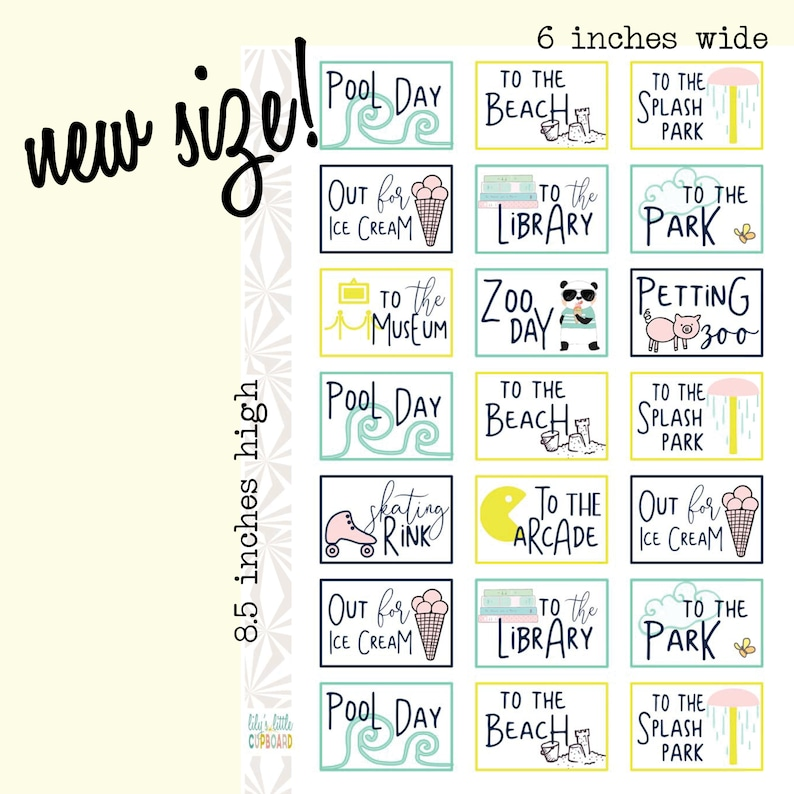 Summer Break Planner Stickers  Summer Outings Stickers  image 0