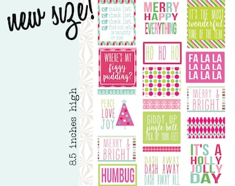 Merry & Bright | Christmas Decorating Planner Stickers (#063)