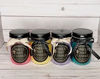 BEST SELLERS:    A triple scented, hand poured  12.6 oz candle jar made with a little touch of Cajun