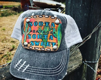 d128d9c3d7c638 Cactus trucker hat | Etsy